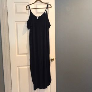 Pinkblush Navy Cold Shoulder Maxi Dress. Large.
